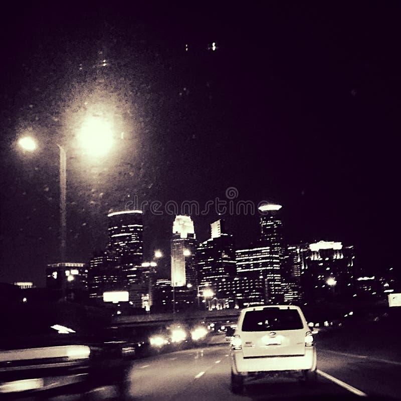 Горизонт ночи Mpls стоковые изображения rf