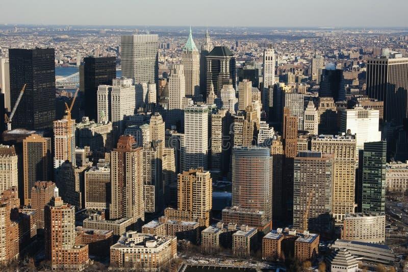 Горизонт Нью-Йорка Манхаттана стоковая фотография