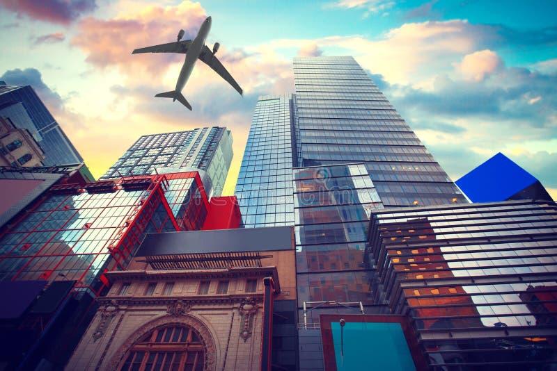 Горизонт Нью-Йорка Манхаттана, u S A стоковые изображения rf