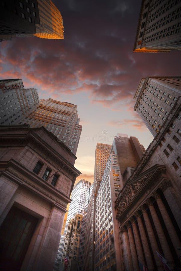 Горизонт Нью-Йорка Манхаттана, u S A стоковые изображения