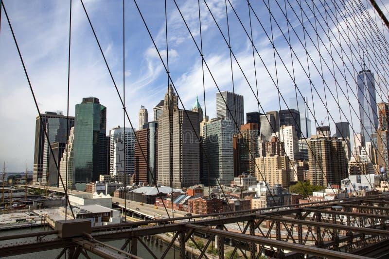 Горизонт Нью-Йорк стоковая фотография rf