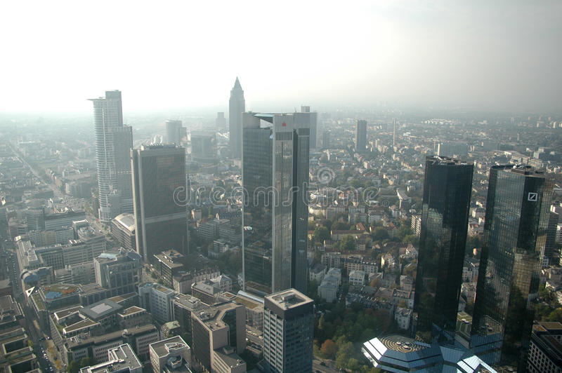 горизонт основы frankfurt стоковое изображение rf