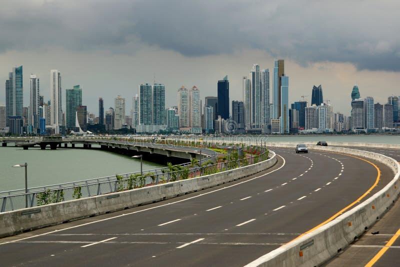 горизонт Панамы города стоковые изображения rf