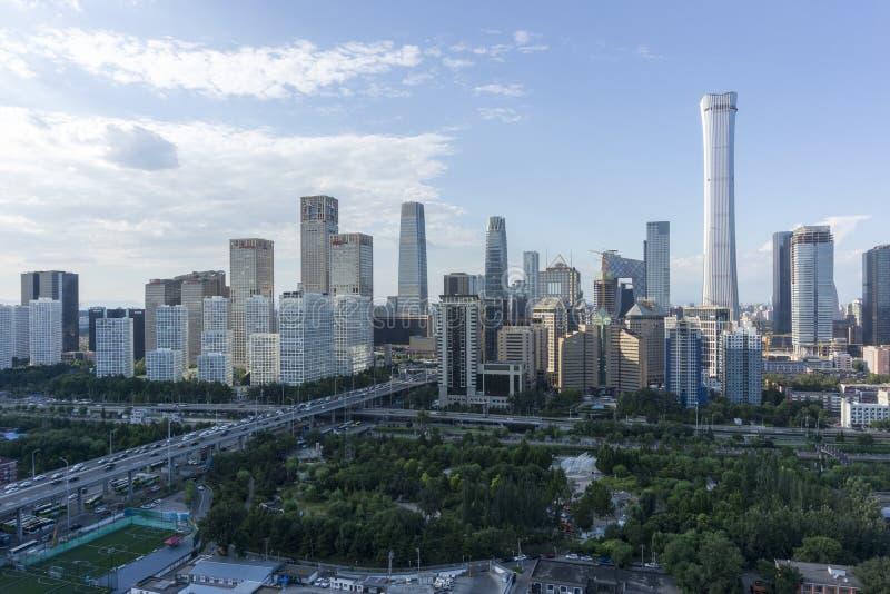 Горизонт Пекин CBD стоковое фото rf