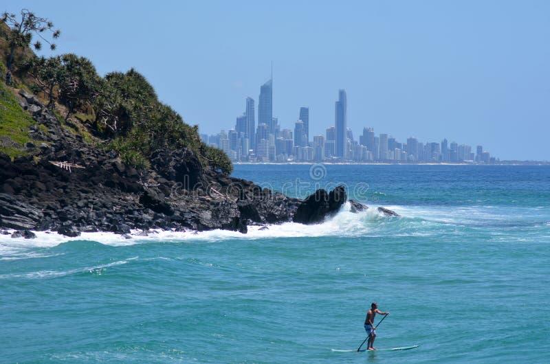 Горизонт рая серферов - Квинсленд Австралия стоковое фото rf