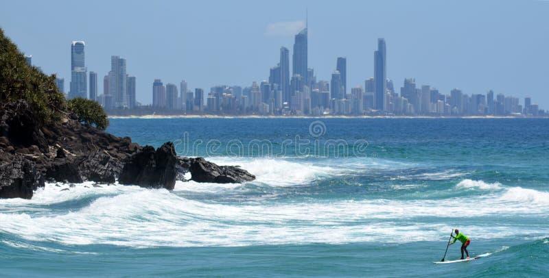 Горизонт рая серферов - Квинсленд Австралия стоковая фотография rf