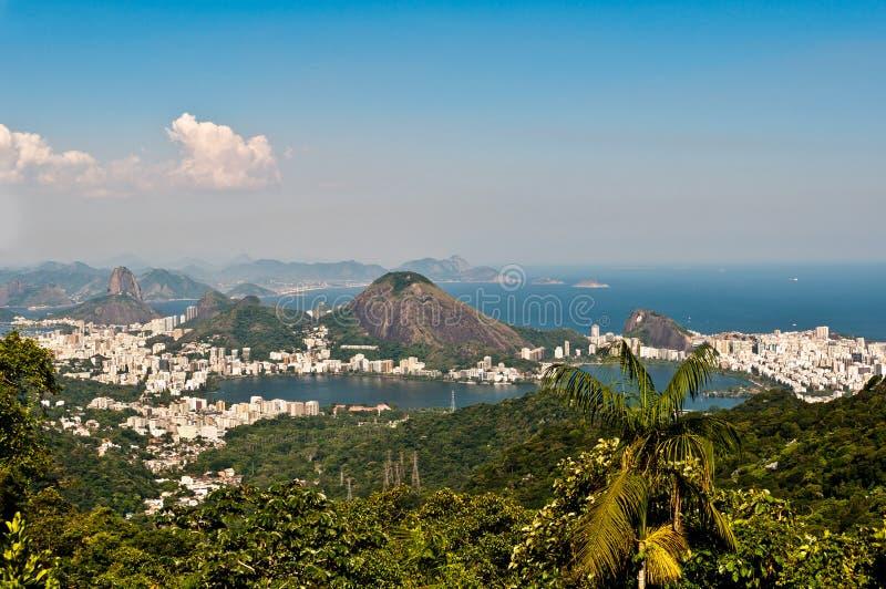 Горизонт Рио-де-Жанейро, Бразилия стоковое фото