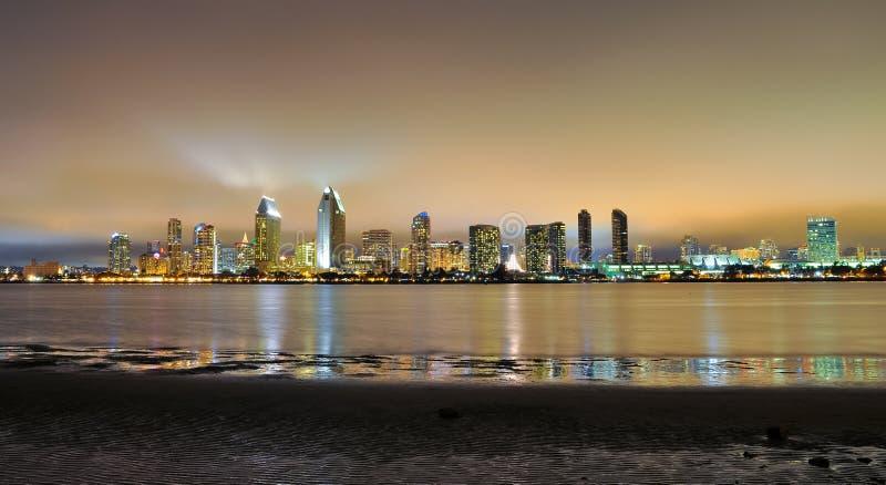 Горизонт Сан-Диего Калифорнии стоковое изображение rf
