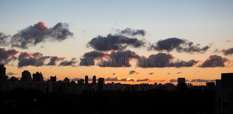 Горизонт Сан-Паулу стоковые фото