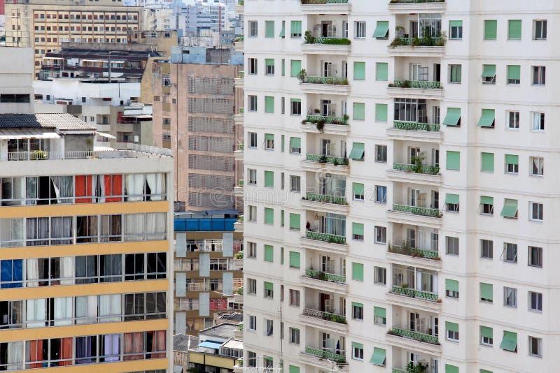 Горизонт Сан-Паулу городской стоковая фотография