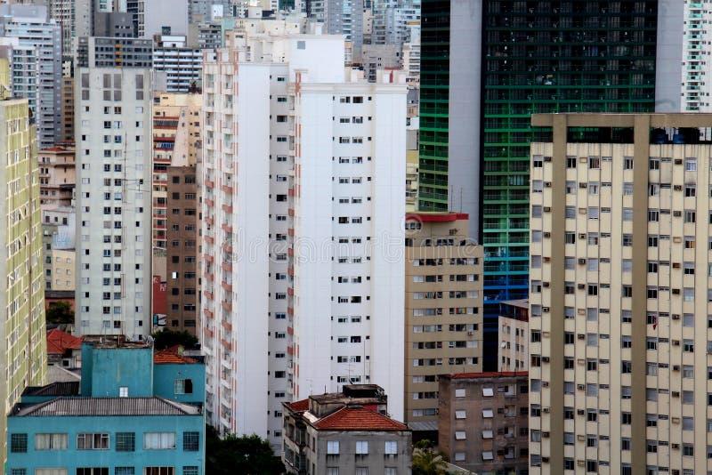 Горизонт Сан-Паулу городской стоковое фото rf