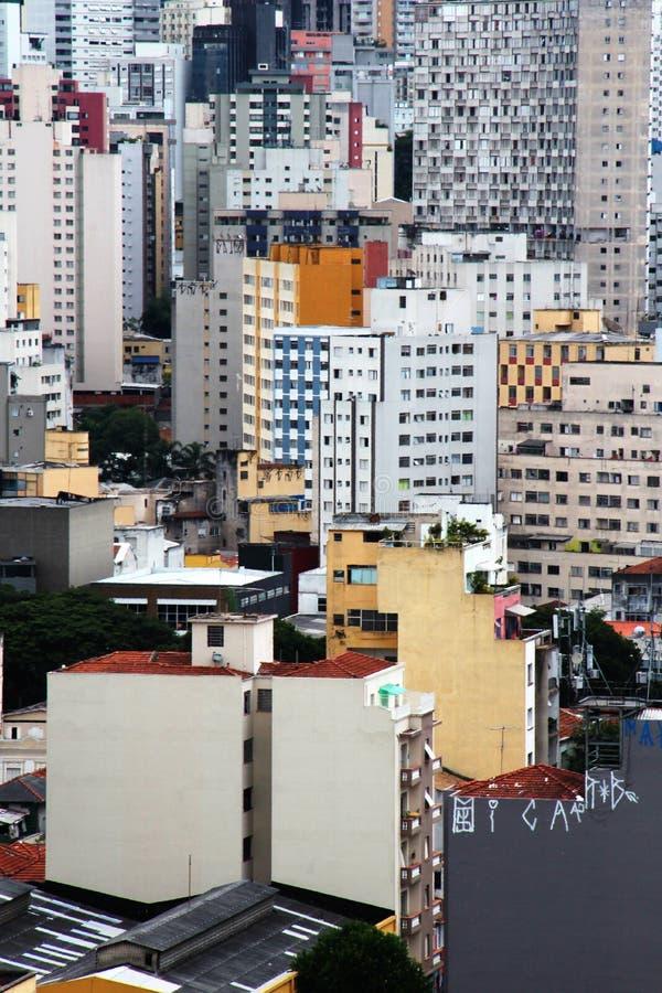 Горизонт Сан-Паулу городской стоковое изображение