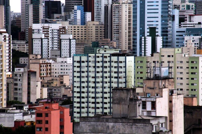 Горизонт Сан-Паулу городской стоковые изображения rf