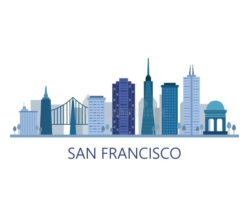 Горизонт Сан-Франциско бесплатная иллюстрация