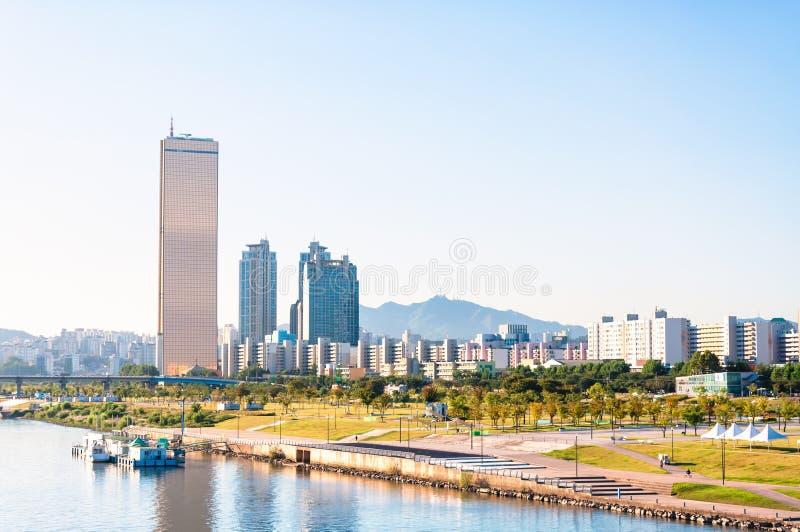 Горизонт Сеула стоковые фото