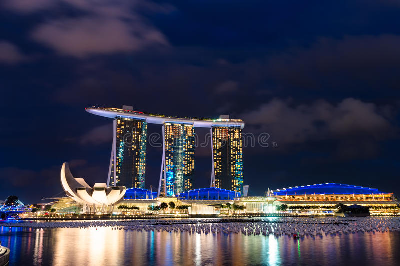 Горизонт Сингапура стоковое изображение rf