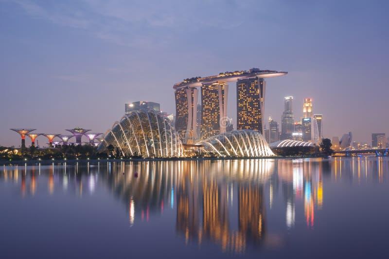 Горизонт Сингапура стоковые фото