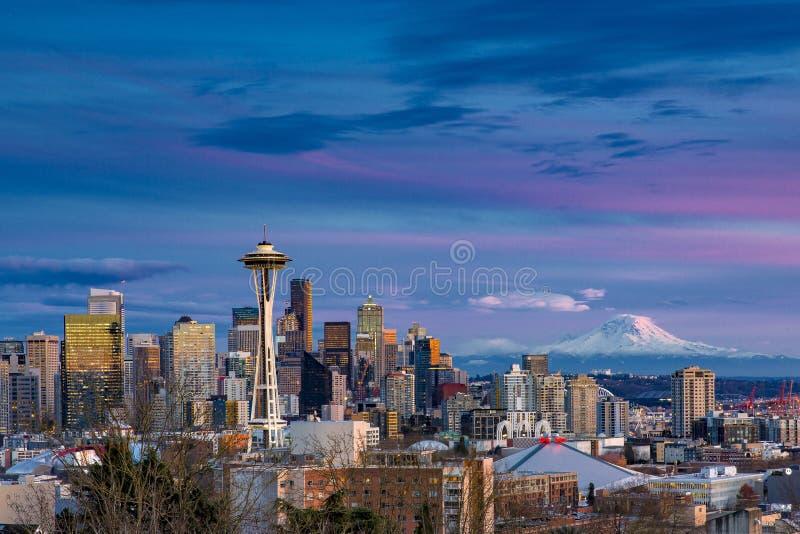 Горизонт Сиэтл стоковые изображения rf