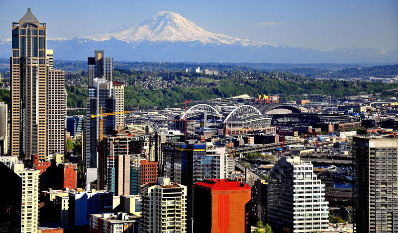 Горизонт Сиэтл стоковое изображение rf