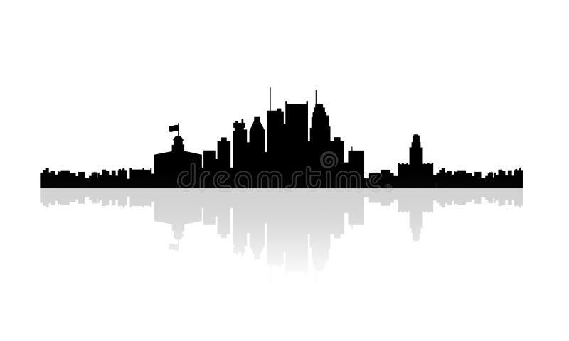 Горизонт силуэта Монреаля бесплатная иллюстрация