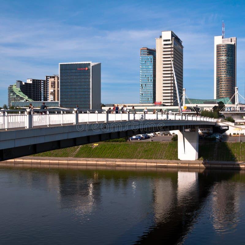 Горизонт современного города Вильнюса стоковые фото