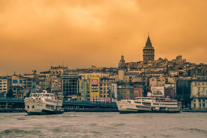 Горизонт Стамбула стоковая фотография