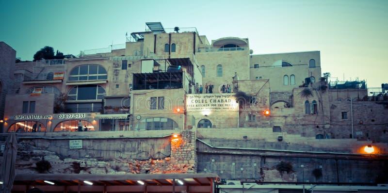 Горизонт старого города на западных стене и Temple Mount внутри стоковые фото