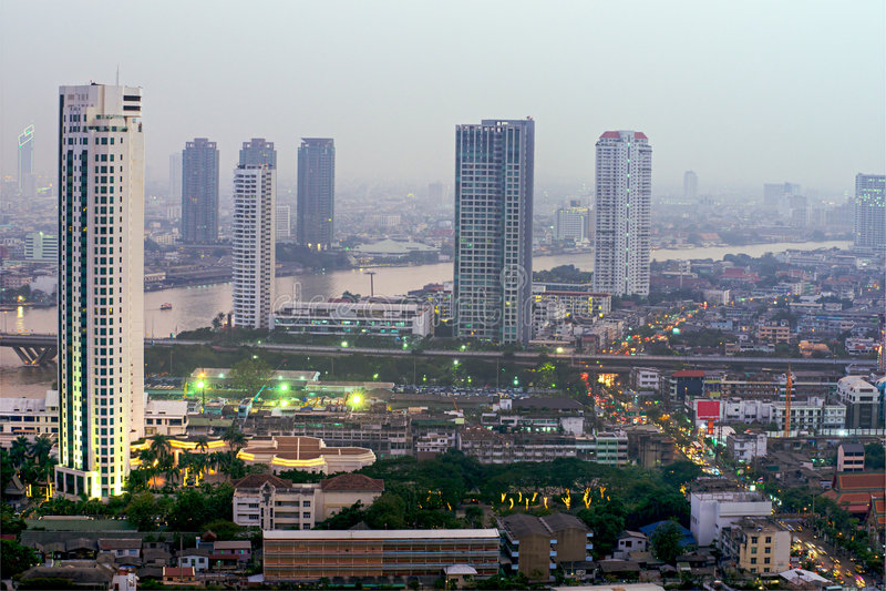 горизонт Таиланд bangkok стоковое изображение rf