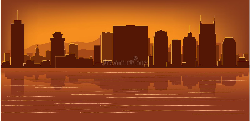 горизонт Теннесси nashville бесплатная иллюстрация