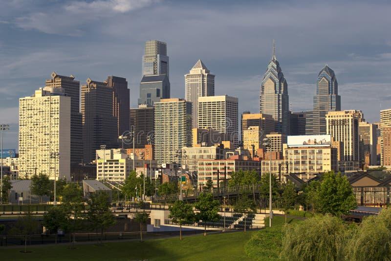Горизонт Филадельфии, Пенсильвании стоковые фото