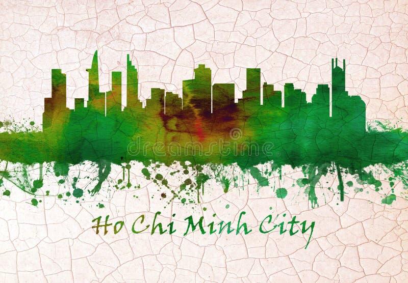 Горизонт Хошимина Вьетнама бесплатная иллюстрация