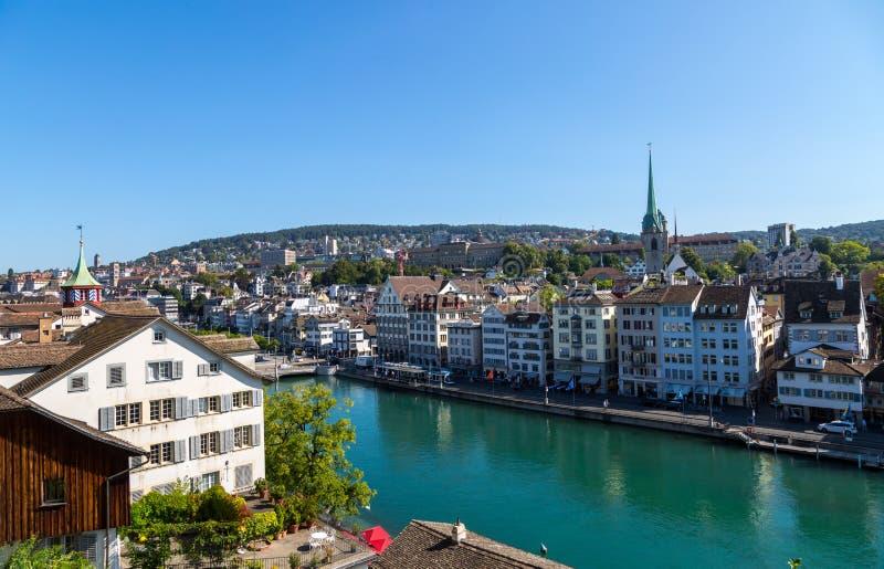 Горизонт Цюриха стоковые фотографии rf
