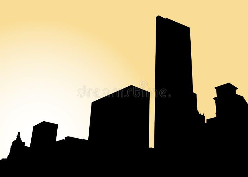 Горизонт Чiкаго бесплатная иллюстрация