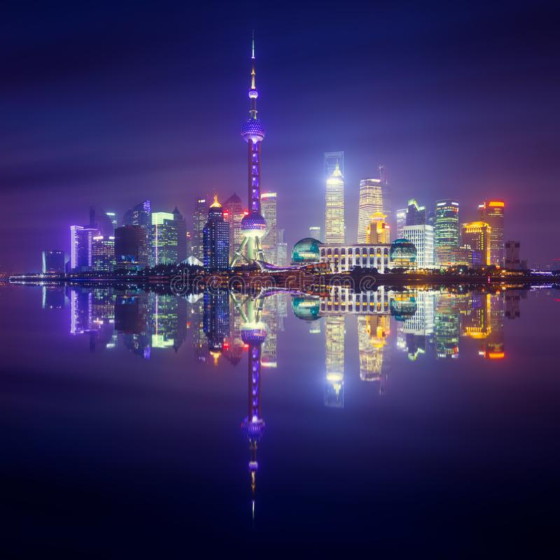 Горизонт Шанхая, Китай стоковое фото rf