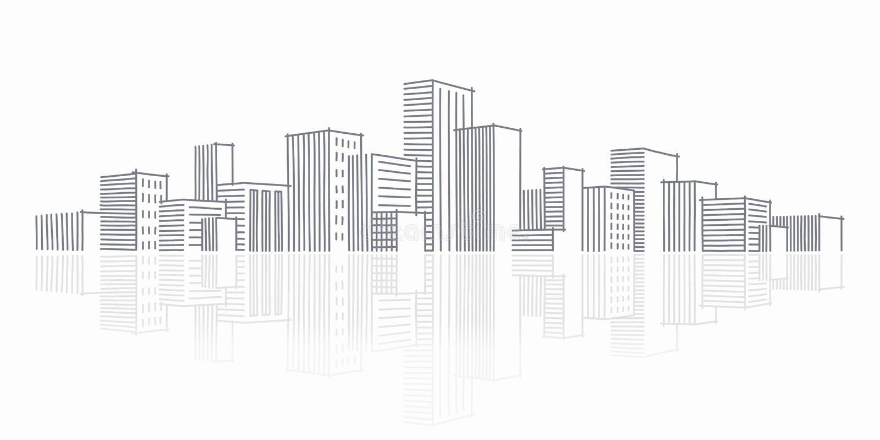 горизонт эскиза города иллюстрация штока
