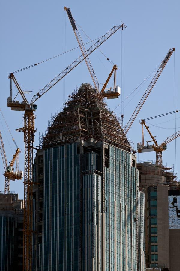 горизонт Abu Dhabi стоковые фотографии rf