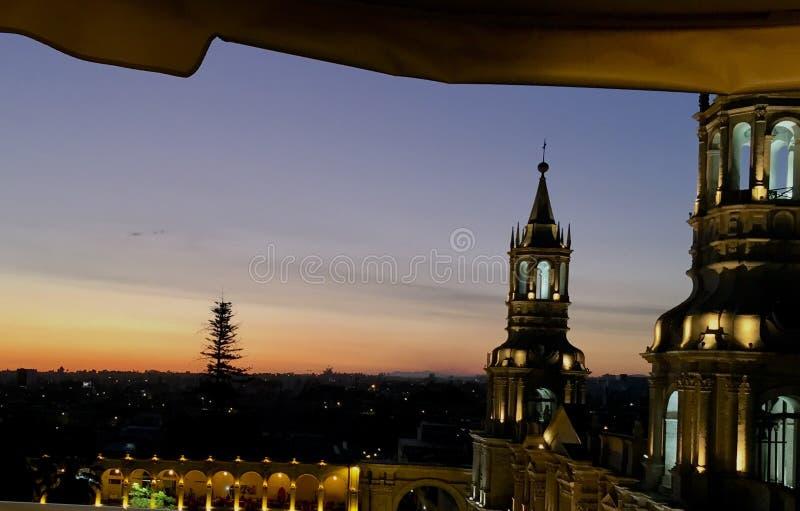 Горизонт Arequipa стоковая фотография