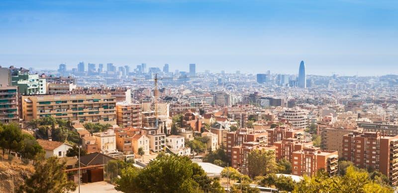горизонт barcelona стоковое фото rf