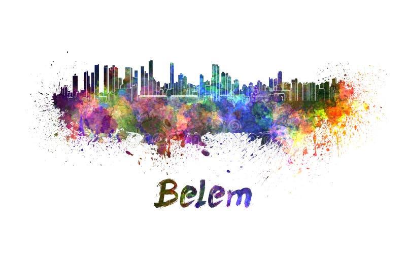 Горизонт Belem в акварели иллюстрация штока