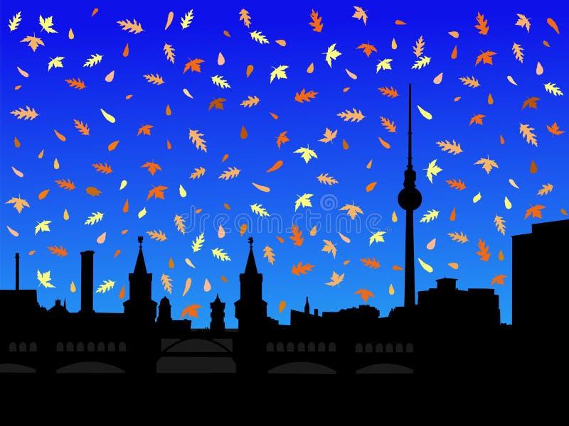 горизонт berlin осени иллюстрация штока