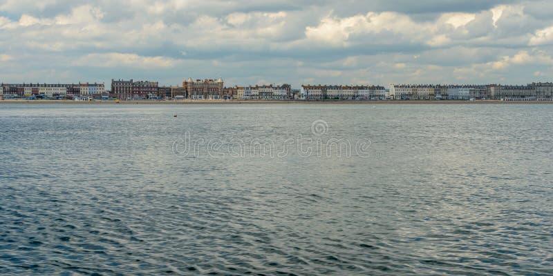 Горизонт c Weymouth стоковое изображение