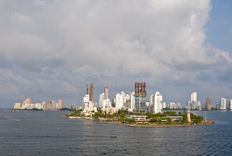 горизонт cartagena Колумбии стоковая фотография