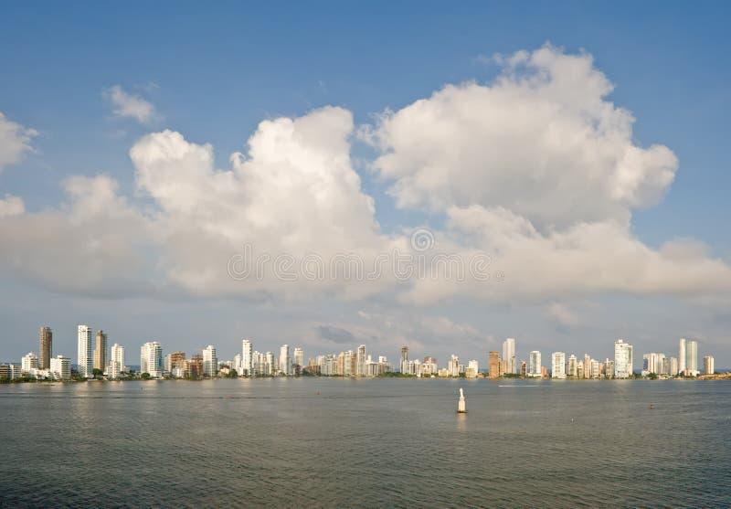 горизонт cartagena Колумбии стоковое изображение rf