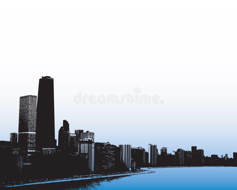 горизонт chicago иллюстрация штока
