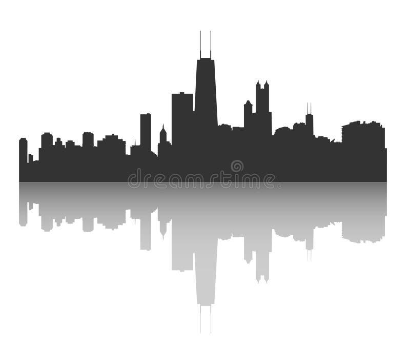 горизонт chicago иллюстрация вектора