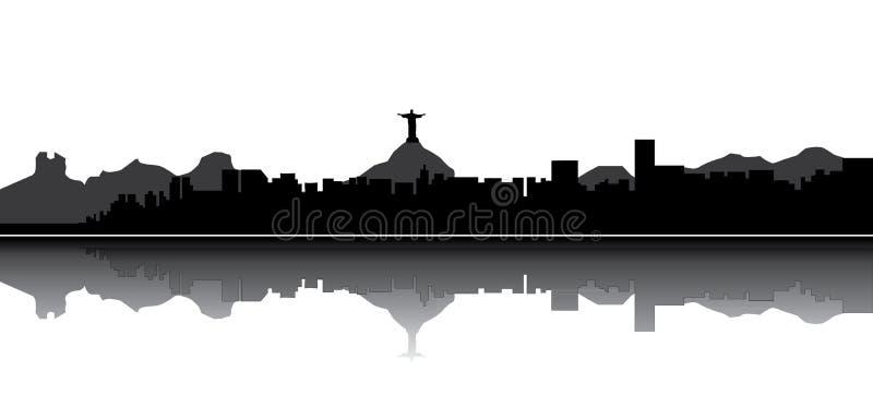 горизонт de janeiro rio иллюстрация штока