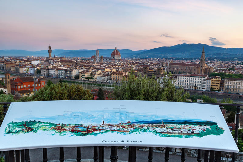горизонт florence Италии стоковые фотографии rf