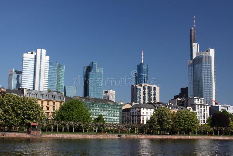 горизонт frankfurt стоковая фотография rf