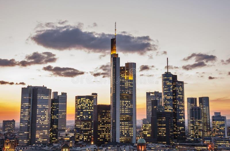 горизонт frankfurt стоковые изображения