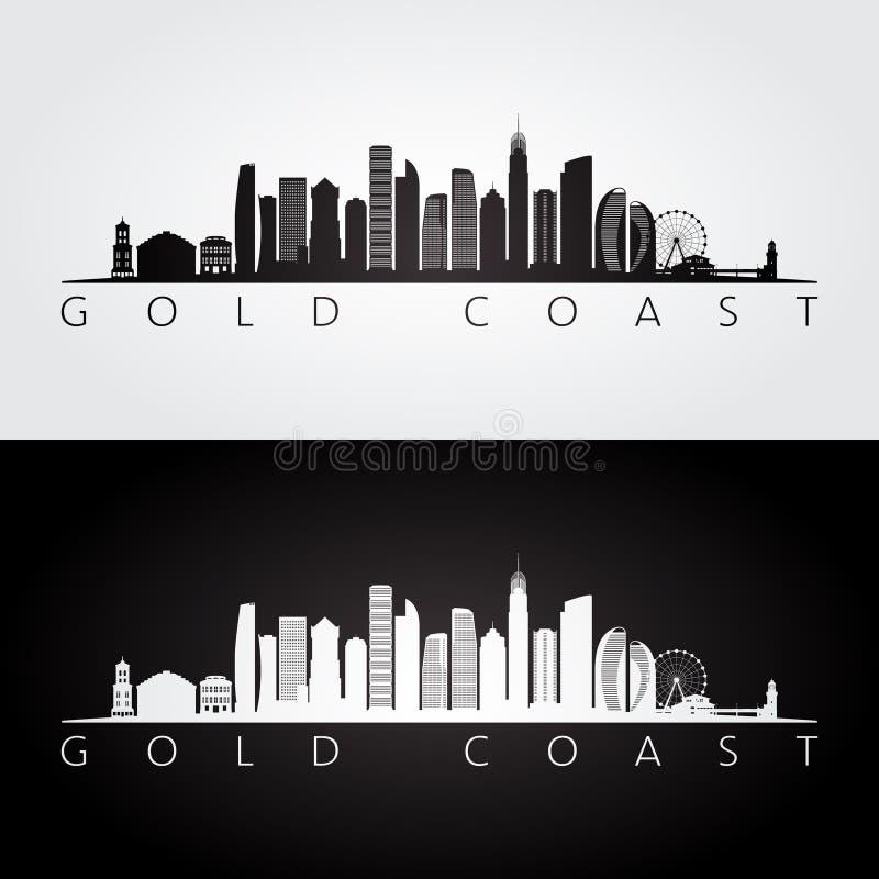 Горизонт Gold Coast и силуэт ориентиров бесплатная иллюстрация